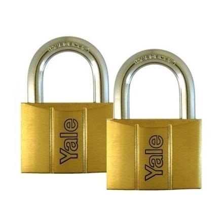 图片 Brass Padlocks Key Alike 2 Pieces, Multi-Pack V140.40KA2