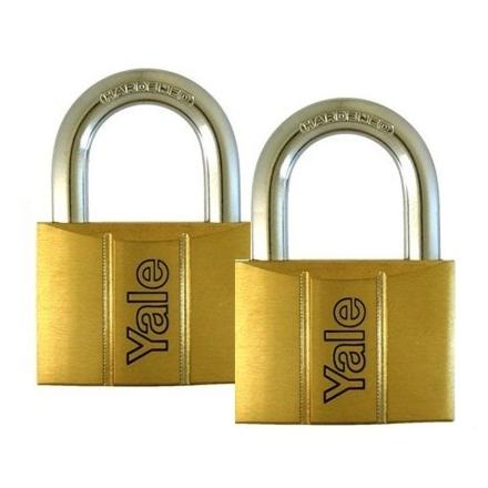 图片 Brass Padlocks Key Alike 2 Pieces, Multi-Pack V140.60.KA2