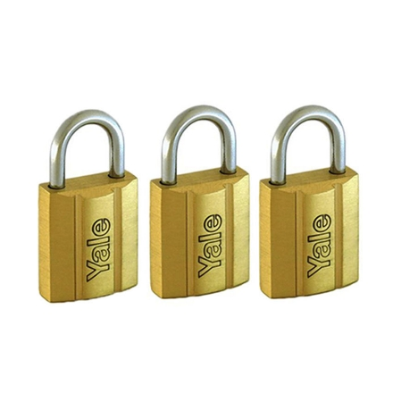 图片 Brass padlocks Key Alike 3 Pieces, Multi-pack V140.30KA3