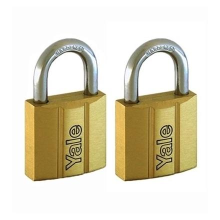 图片 Brass Padlocks Key Alike 2 Pieces, Multi-Pack V140.30KA2