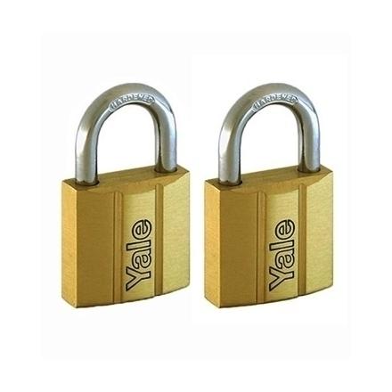 图片 Brass Padlocks Key Alike 2 Pieces, Multi-pack V140.25KA2