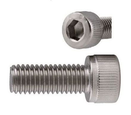 Picture of 304 Stainless Steel Socket Cap Screw, Internal Hex Drive