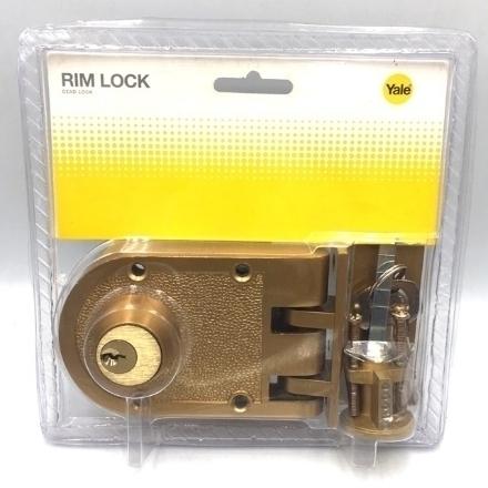 Picture of Yale V198 1/4GL, V198 1/4AB, Rim Lock Deadlock Double Cylinder, V19814GL