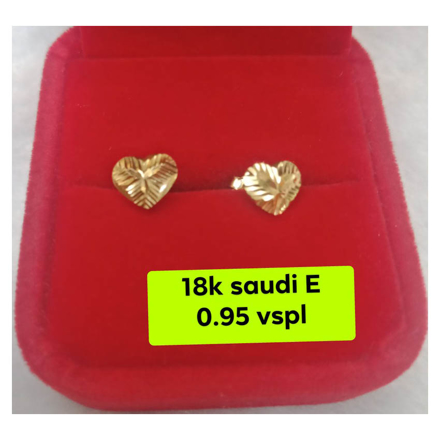 Picture of 18K - Saudi Gold Earrings- SE0.95G