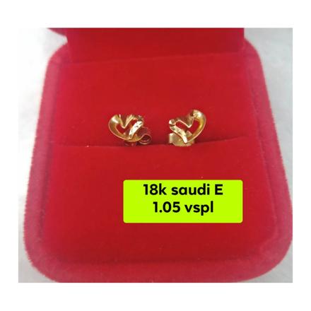 Picture of 18K - Saudi Gold Earrings- SE1.05G