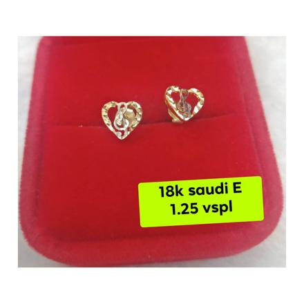 Picture of 18K - Saudi Gold Earrings- SE1.25G2