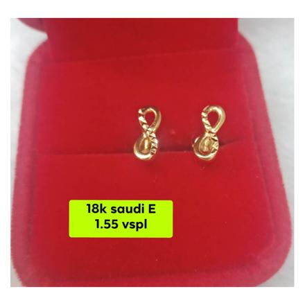 Picture of 18K - Saudi Gold Earrings- SE1.55G