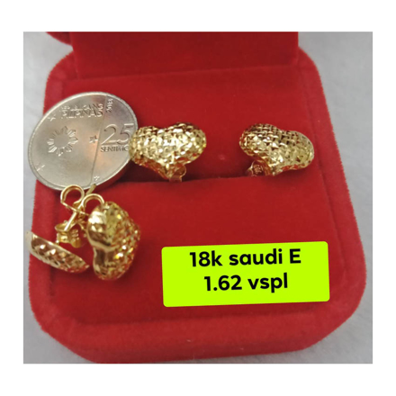 Picture of 18K - Saudi Gold Earrings- SE1.62G