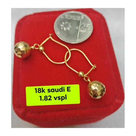 Picture of 18K - Saudi Gold Earrings- SE1.82G