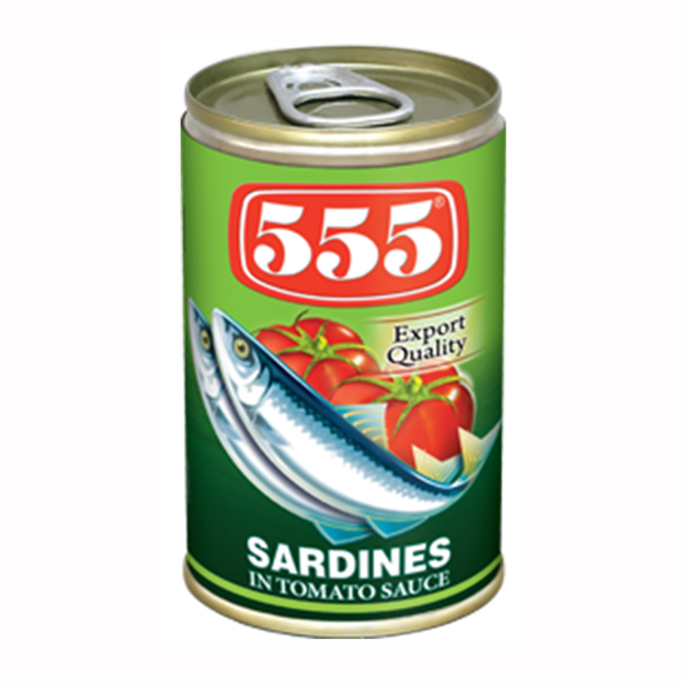 圖片 555 Sardines in Tomato Sauces 155g