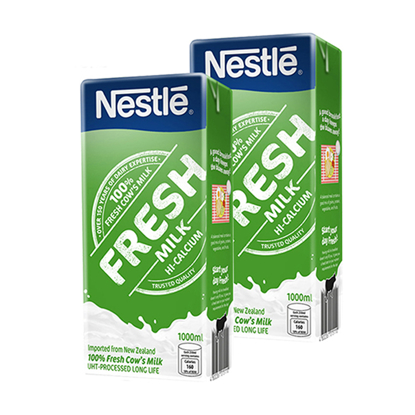 Picture of Nestle Fresh Milk 1L (Pack of 2)