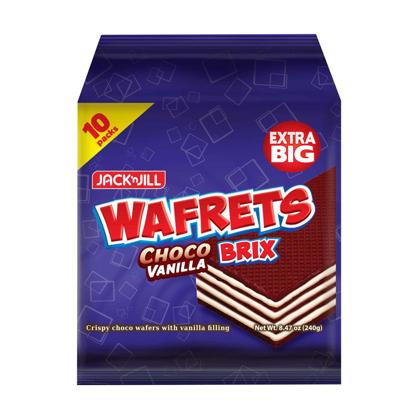 Picture of JACK 'N JILL Wafrets Brix Choco Vanilla 10s (24g x 10)