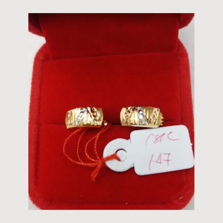 Picture of 18K - Saudi Gold Earrings 1.47g- SE147G