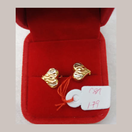 Picture of 18K - Saudi Gold Earrings 1.79g- SE179G