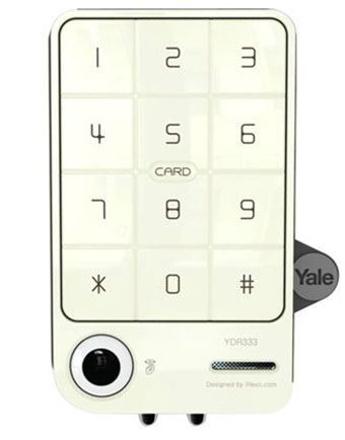 圖片 Yale Digital Door Lock with PIN Code & RF Card Key (Rim Lock) - YDR 333