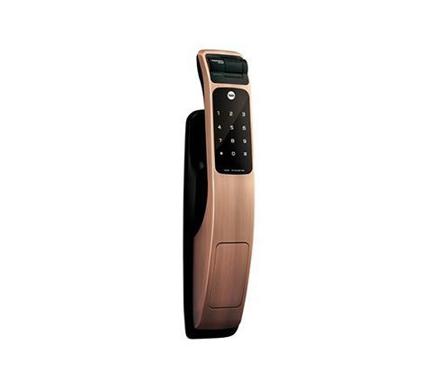 圖片 Yale Door Lock Digital Mortise  Pull & Push Finger Print Red Bronse