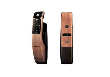 圖片 Yale Door Lock Digital Mortise Pull & Push Proximity Card Red Bronze