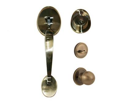圖片 Yale Handleset Entrance Stellar/ Carolina Antique Brass