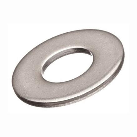 圖片 10 Pcs  Stainless Steel Flat Washer, 316 Stainless Flat Washer, Inches Size