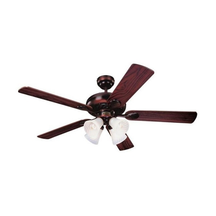 """Picture of Westinghouse Swirl Deluxe 52"""" Rustic Bronze Ceiling Fan, WH5SW52RB4"""