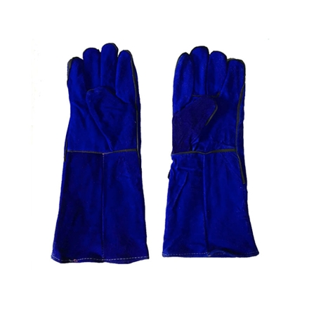 """Picture of S-Ks Tools USA 16"""" Genuine Cowhide Welding Gloves (Blue), 16"""""""