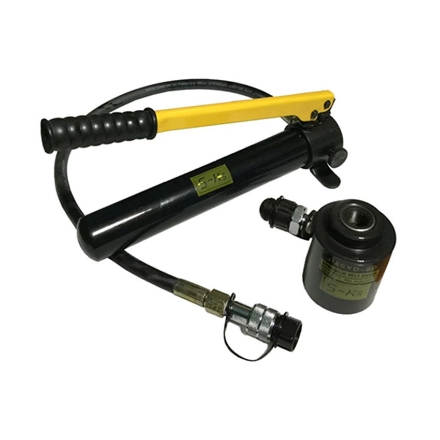 Picture of S-Ks Tools USA 11 Ton Hydraulic Knock Out Punch Driver Kit Hole Tool Hand Pump (Black/Yellow), JMSYK-8D