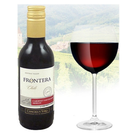 Picture of Frontera Cabernet Sauvignon Chilean Red Wine 187ml Miniature, FRONTERACABERNET