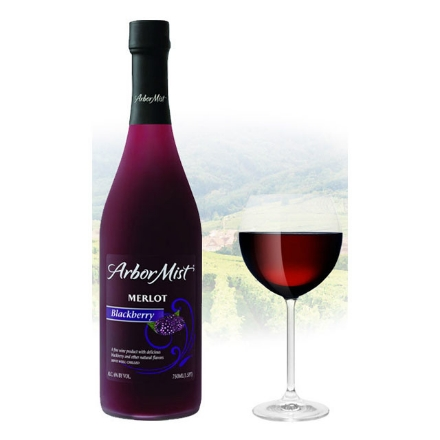 图片 Arbor Mist Blackberry Merlot Californian Red Wine 750ml, ARBORMISTMERLOT