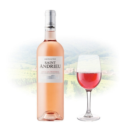 Picture of Domaine Saint Andrieu Cotes de Provence Rose French Pink Wine 750 ml, DOMAINEROSE