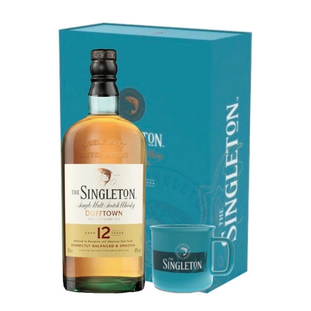 Picture of The Singleton Dufftown 12 Year Old Gift Pack Single Malt Scotch Whisky 700 ml, THESINGLETON12GIFTPACK