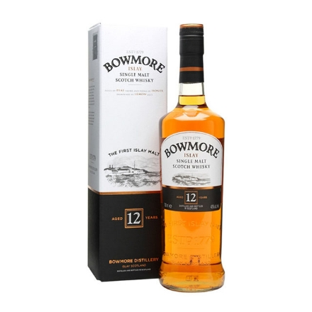 Picture of Bowmore 12 Year Old Single Malt Scotch Whisky 700 ml, BOWMORE12