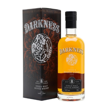 Picture of Darkness 8 Year Old Sherry Cask Finish Single Malt Whiskey 700 ml, DARKNESS8SHERRY