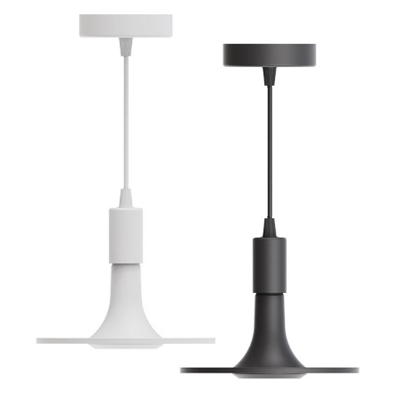 Picture of Firefly Functional LED 3-Step Dimming Ceiling Lamp with E27 Pendant Socket (White and Black), FCL238012CW/W