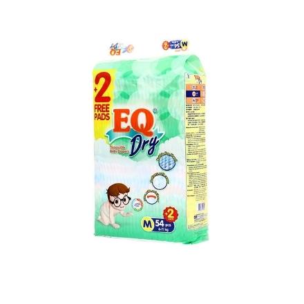 Picture of EQ Diaper Dry Jumbo Pack Medium 54+2's, EQ071
