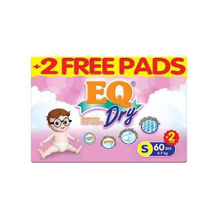 Picture of EQ Diaper Dry Jumbo Pack Small 60+2's, EQ044