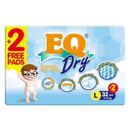 Picture of EQ Diaper Dry Large 32+2's, EQ030AY
