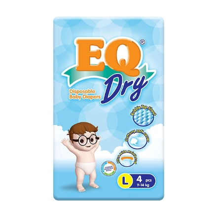 Picture of EQ Diaper Dry Large (4's, 48's, 72's), EQ035Y