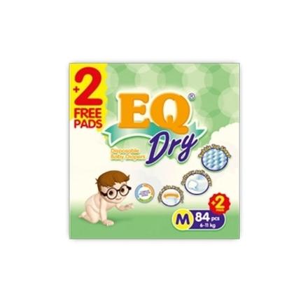 Picture of EQ Diaper Dry Mega Pack Medium 84+2's, EQ073