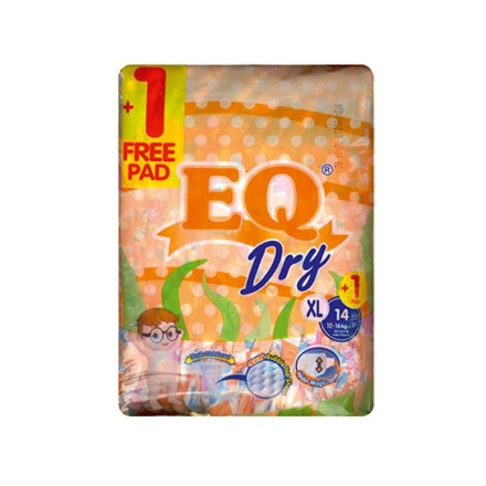 Picture of EQ Diaper Dry Xtra Large 14+1's, EQ031A