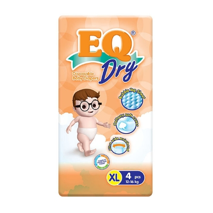 Picture of EQ Diaper Dry Xtra Large 4's, EQ036Y