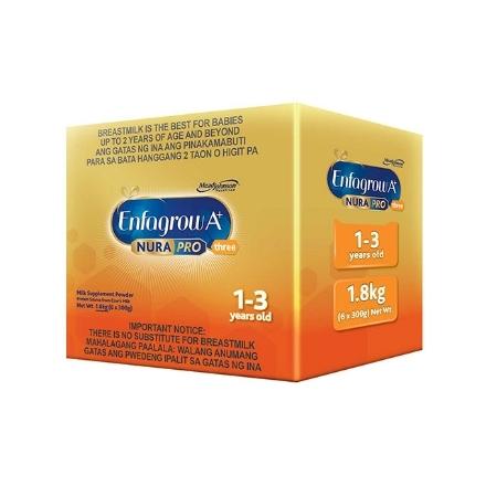 Picture of Enfagrow A+ Three NuraPro Milk Supplement Powder for 1-3 Years Old 1.8kg, ENFAGROWNURAPRO1.8