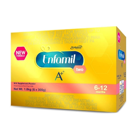 Picture of Enfamil A+ Two Milk Supplement Powder for 6-12 Months 1.8kg, ENFAMILTWO1.8