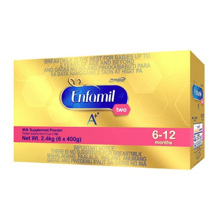 Picture of Enfamil A+ Two Milk Supplement Powder for 6-12 Months 2.4kg, ENFAMILTWO2.4