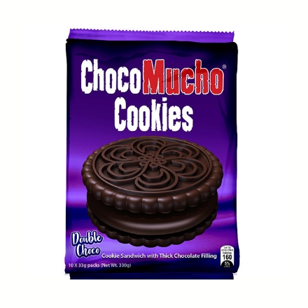 Picture of Choco Mucho Cookie Sandwich Chocolate 33g 10 packs, CHO22