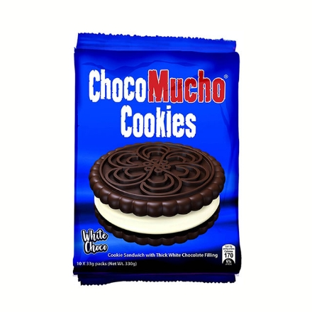 Picture of Choco Mucho Cookie Sandwich White 33g 10 packs, CHO23