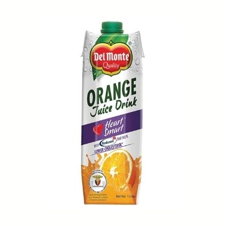Picture of Del Monte Juice Orange Heart Smart Tetra 1L, DEL123