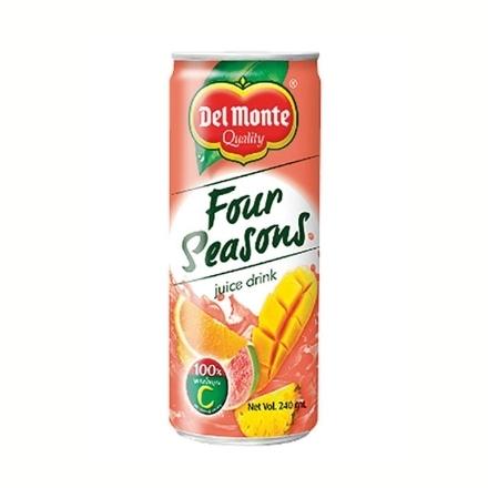 Picture of Del Monte Juice 240 ml (Four Seasons, Mango, Pineapple Orange, Sweetened Orange, Sweetened Pineapple, White Grape), DEL200