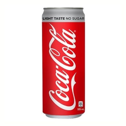 Picture of Coca Cola Light Taste No Sugar In Can (Slim) 325 ML, COK17