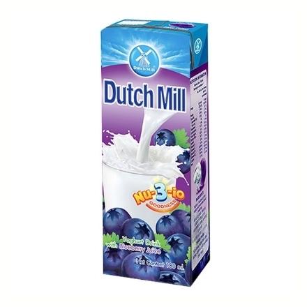 Picture of Dutch Mill Yoghurt Drink 180 ml 4 pcs (Blueberry, Mixed Fruit, Orange, Strawberry, Super Fruits), DUT61