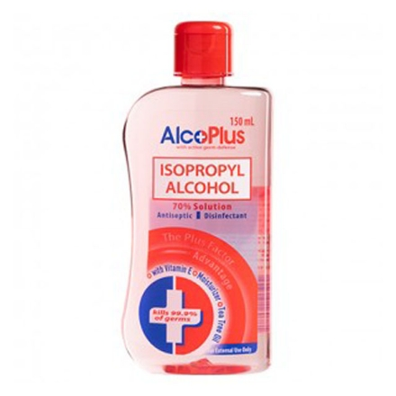 Picture of AlcoPlus Isopropyl Alcohol 70% Red (150 ml, 250 ml, 500 ml), ALC07
